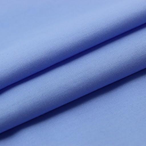 Polyester Viscose plain Uniform light blue 12855