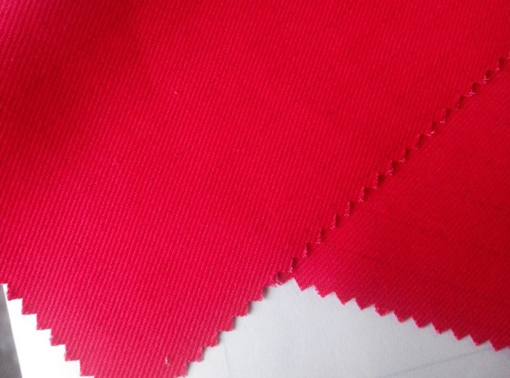 Polyester Cotton twill Fabric Red TC11858 with antistatics