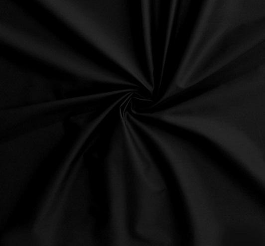 cotton sateen fabric black
