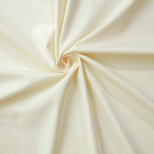 Cotton Sateen Stretch Fabric ivory CP4106